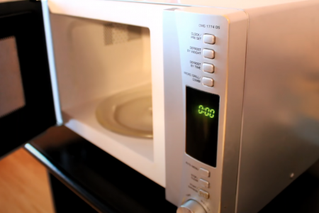 A microwave oven repair