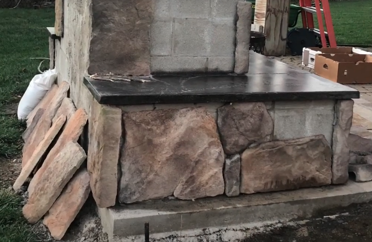 DIY outdoor fireplace in your own yard