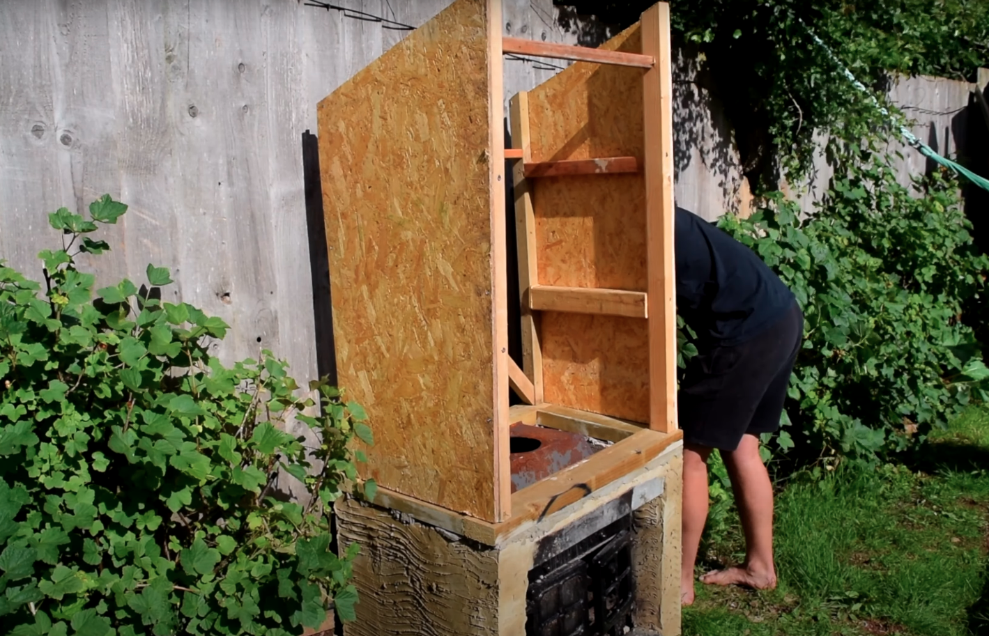 Vertical smokehouse (or mine)