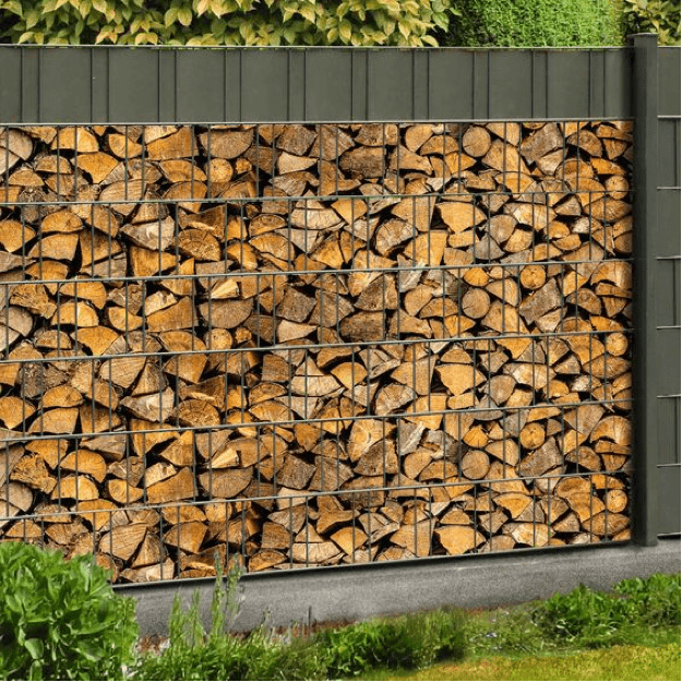 Fencing made of gabions