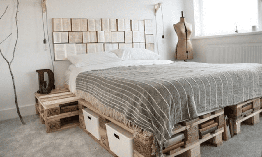 DIY instructions: How to build a diy pallet bed